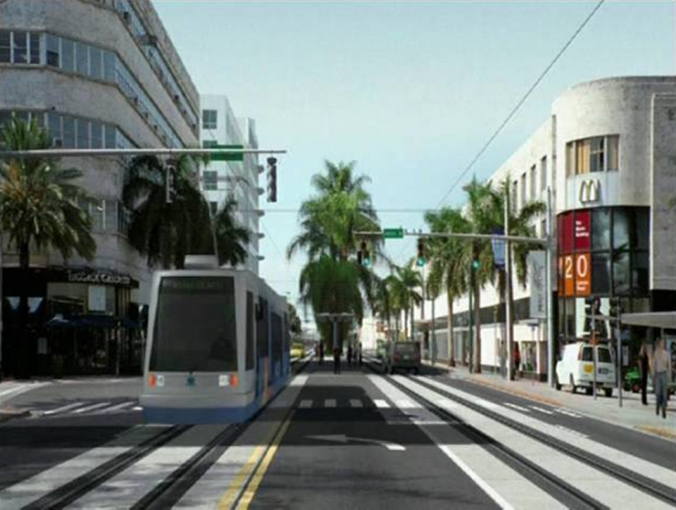 Miami Beach approves negotiations for $400 million dollar light rail project Miami train